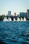 WSC dinghy fleet racing night on the Willamette River, Wednesday 16 August 2017, Willamette Sailing Club, Portland, Oregon