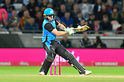 Ben Cox of Worcestershire plays a scoop shot during the final of the Vitality T20 Finals Day 2018 match between Worcestershire Rapids and Sussex Sharks at Edgbaston, Birmingham, United Kingdom on 15 September 2018.