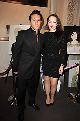 Singer ANTHONY COSTA and artist MJ BOUCHIER at the Inspiration Awards For Women held at Cadogan Hall, Sloane Terrace, London on 6th October 2010.