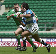 24/05/2002 (Friday).Sport -Rugby Union - London Sevens.Argentina vs Ireland.Martin Gaitan with ball[Mandatory Credit, Peter Spurier/ Intersport Images].