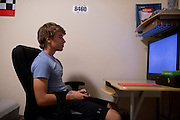 Alex Lee aka #AlexFromTarget plays video games in his room on November 10, 2014 in Frisco, Texas. (Cooper Neill for The New York Times)