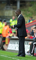 LONDON, ENGLAND - Saturday, October 8, 2011: Charlton Athletic's Manager Chris Powell during the Football League One match at The Valley. (Pic by Gareth Davies/Propaganda)