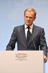 July 7, 2017 - Hamburg, Hamburg, Deutschland - Donald Tusk bei der EU-Pressekonferenz im Rahmen des 12. G20-Gipfel. Hamburg, 07.07.2017 (Credit Image: © Future-Image via ZUMA Press)
