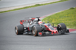 February 28, 2017 - Montmelo, Spain - Kevin Magnussen, driver of the Haas F1 Team, in action during the 2nd day of the Formula 1 Test at the Circuit of Catalunya. (Credit Image: © Pablo Freuku/Pacific Press via ZUMA Wire)