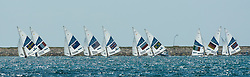 2012 Olympic Games London / Weymouth<br /> Star Medal Race<br /> The fleet on the fleet on the run/ downwind