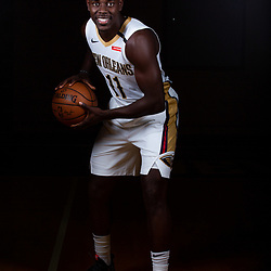 Sep 24, 2018; New Orleans, LA, USA; New Orleans Pelicans guard Jrue Holiday (11) poses for a portrait during Media Day at Ochsner Performance Center. Mandatory Credit: Derick E. Hingle-USA TODAY Sports