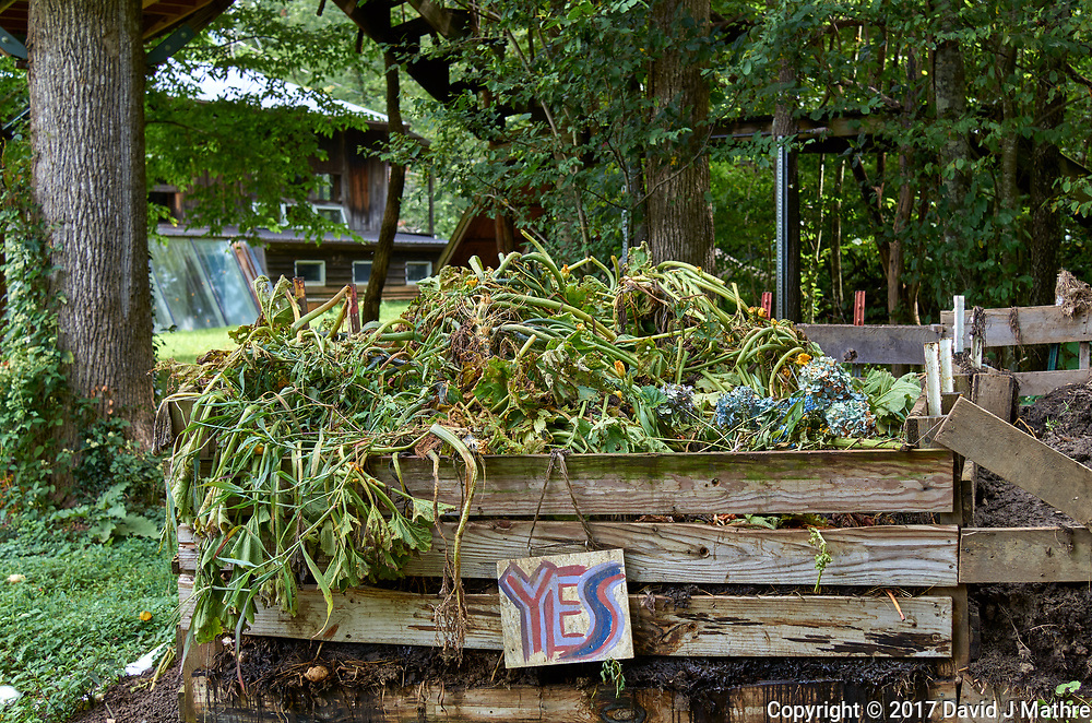 Compost pile at Arthur Morgan School near Burnsville, North Carolina. Image taken with a Leica T camera and 35 mm f/1.4 lens.