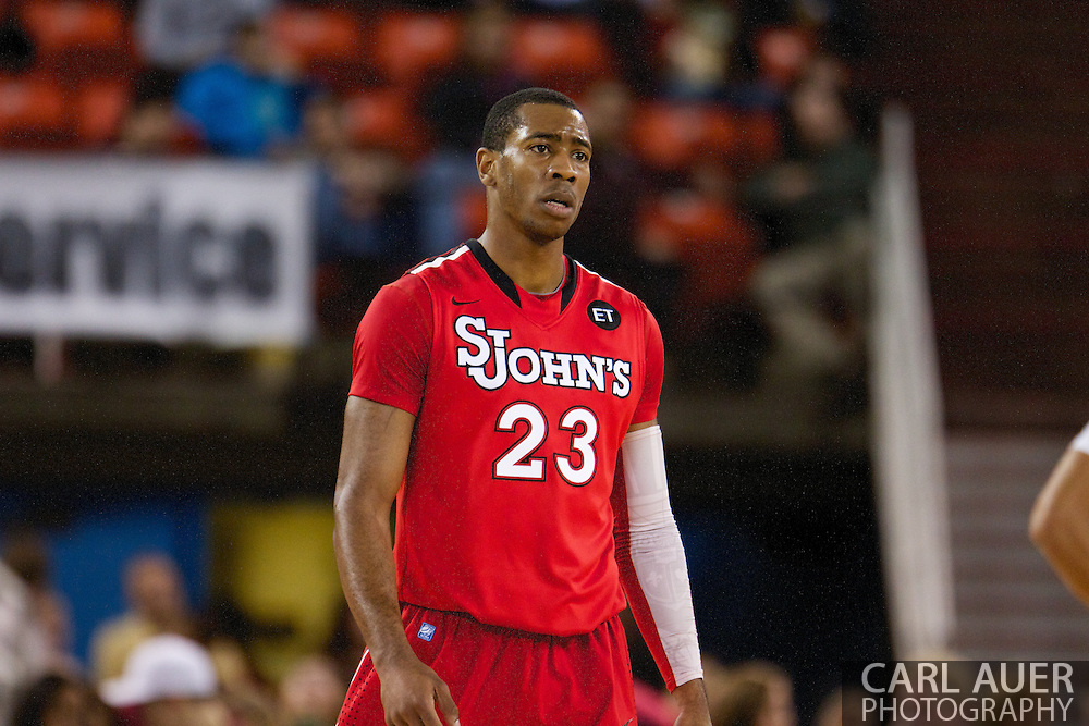 November 27th, 2010:  Anchorage, Alaska - St. John's Paris Horne (23) in the Championship game of the Great Alaska Shootout.  The Red Storm would go on to beat the Sun Devil's 67-58 to capture their first Shootout championship.