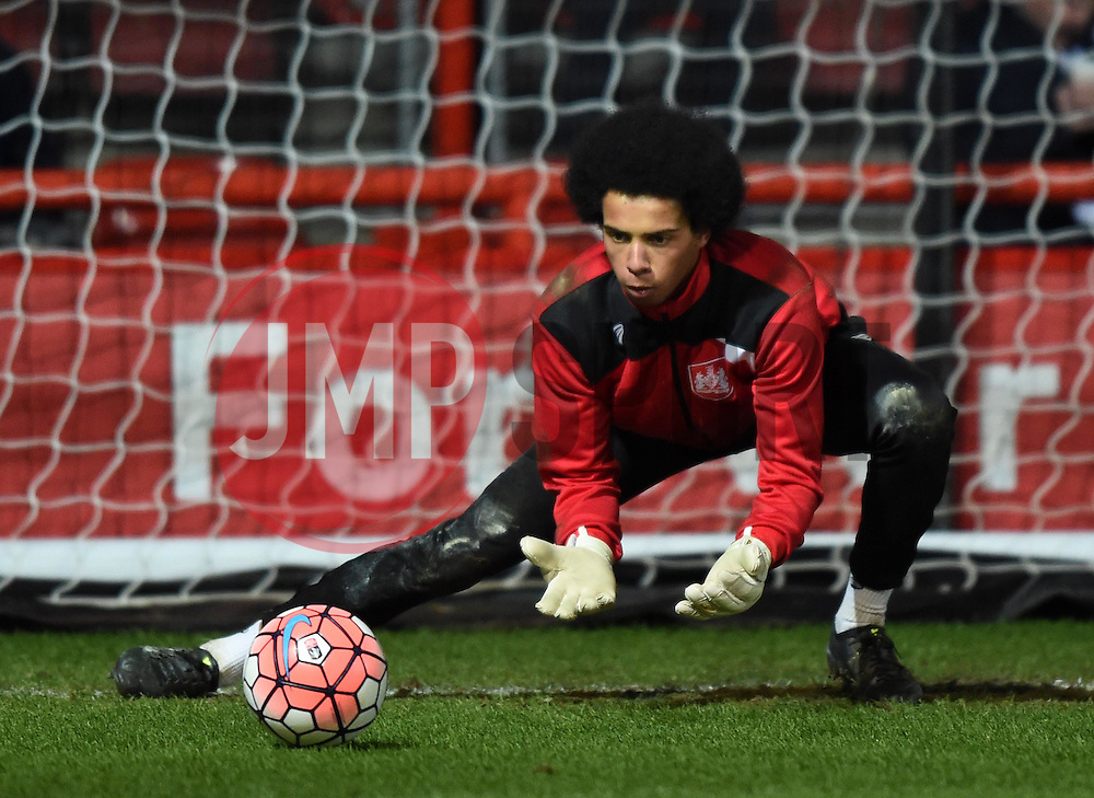 Jojo Wollacott of Bristol City warms up before the FA Cup third round game between Bristol City and West Bromwich Albion on 20 January 2016 in Bristol, England - Mandatory by-line: Paul Knight/JMP - Mobile: 07966 386802 - 19/01/2016 -  FOOTBALL - Ashton Gate Stadium - Bristol, England -  Bristol City v West Bromwich Albion - FA Cup third round