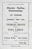 20.05.1973 Munster Hurling Championship