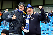 FC Schalke 04 fans before the Champions League round of 16, leg 2 of 2 match between Manchester City and FC Schalke 04 at the Etihad Stadium, Manchester, England on 12 March 2019.