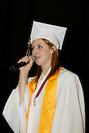 Becca Naber sings during the Lebanon High School graduation at the Nutter Center in Fairborn, Saturday, May 28, 2011.