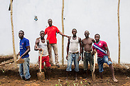 Yahyah abdulai Bangura is proud of the workmen's good work on the construction site. Next month they are expected to open the new extension of the maternity complex with 12 beds, which Yahyah abdulai Bangura will be in charge of. <br /> <br /> In this July he has already helped 6 women delivering her baby. Pregnant women from a radius of more than 10 kilometers to seek help in this facility in the Kunsho Community near the town of Makeni (July 18, 2016).<br /> <br /> This facility is supported The Project Infection Prevention and Control (IFC) and Screening in Primary Health Care Facilities in Sierra Leone.<br /> <br /> The building of the new extension building of the maternity complex is a project by UNICEF and funded by the European Union.<br /> <br /> The MDG Initiative in Sierra Leone - Bridging the gaps to attain MDG 4 and 5:<br /> The desired impact of the program is to contribute to the reduction of the mortality and morbidity of children under 5, infants, newborn and pregnant women in the next three years.