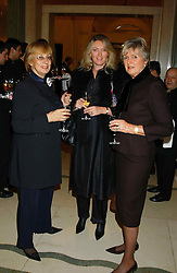 Left to right, Interior designer NINA CAMPBELL, ANNABELLE BUTLER and her mother LADY HESELTINE at a lunch and fashion show by Bruce Oldfield in aid of Barnados and held at Claridges, Brook Street, London W1 on 22nd September 2004.<br /><br />NON EXCLUSIVE - WORLD RIGHTS