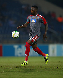 Morgan Gould of SuperSport United during the 2016 Premier Soccer League match between Maritzburg Utd and SuperSport United held at the Harry Gwala Stadium in Pietermaritzburg, South Africa on the 21st September 2016<br /> <br /> Photo by:   Steve Haag / Real Time Images
