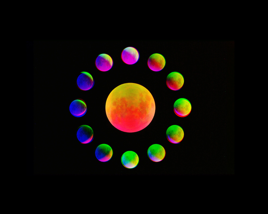 For this series I investigate the cycling of the lunar calendar and how our perception of time changes through the light spectrum. Through the use of appropriated lunar calendars, depictions of the lunar phases this work questions our constant relationship to the Moon.