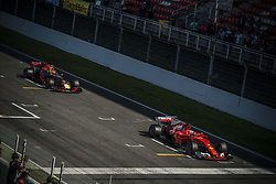 March 10, 2017 - Montmelo, Catalonia, Spain - VALTTERI BOTTAS (FIN) of team Mercedes and MAX VERSTAPPEN (NED) of team Red Bull practice the start on track during day 8 of Formula One testing at Circuit de Catalunya (Credit Image: © Matthias Oesterle via ZUMA Wire)