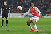 Alex Iwobi of Arsenal FC (45)  during the The FA Cup fifth round match between Hull City and Arsenal at the KC Stadium, Kingston upon Hull, England on 8 March 2016. Photo by Ian Lyall.