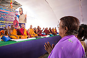 Masskonverteringsceremoni av hinduer till buddister, Nagpur, Indien