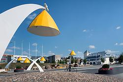 Big street lamps in Rakvere, Estonia.