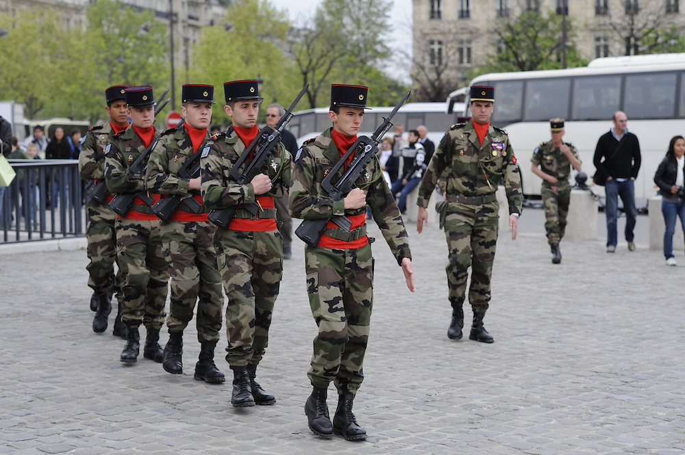 Air Force Ceremony at the Arc de Triomphe, Paris, France