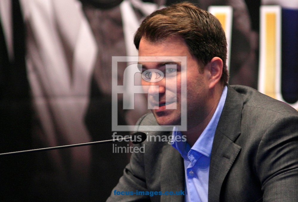 Picture by Richard Gould/Focus Images Ltd +447814 482222.24/04/2013.Eddie Hearn talks about Luke at the Press Conference at Hull City Hall, Hull.