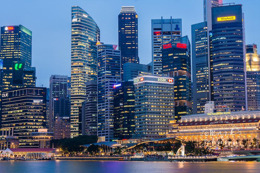 The Merlion & Singapore Skyline, Marina Bay, Singapore