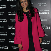 U Block 146 Brick Lane, London, UK. 10th October, 2017. Shazia Imran attend the ActionAid Survivors Runway - fashion show showcase the inner strength and dignity of survivors who have had the courage to speak out against gender-based violence