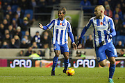 Brighton & Hove Albion full back Gaetan Bong (3) during the EFL Sky Bet Championship match between Brighton and Hove Albion and Aston Villa at the American Express Community Stadium, Brighton and Hove, England on 18 November 2016. Photo by Phil Duncan.