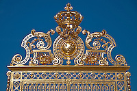 Palace of Versailles. The golden front gate of Louis XIV.
