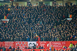 MANCHESTER, ENGLAND - Wednesday, March 16, 2016: Liverpool supporters before the UEFA Europa League Round of 16 2nd Leg match against Manchester United at Old Trafford. (Pic by David Rawcliffe/Propaganda)