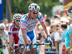 07.07.2013, AUT, 65. Oesterreich Rundfahrt, 8. Etappe, Podersdorf - Wien / Burgtheater im Bild Etappensieger #121 Omar Bertazzo, ITA, Androni Giocattoli Venezuela // during the 65th Tour of Austria, Stage 8, from Podersdorf to Vienna / Burgtheater, Austria on 2013/07/07. EXPA Pictures © 2013, PhotoCredit: EXPA/ R. Eisenbauer
