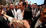 Republican candidate for president Sen. Ted Cruz greets supporters after speaking at a rally on the campus of Boise State University in Boise, ID on Saturday March 5, 2016.