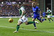 Lewis Stevenson clears ball during the Ladbrokes Scottish Premiership match between Hibernian and Rangers at Easter Road, Edinburgh, Scotland on 8 March 2019.