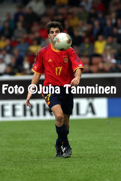 30.08.2003, T??l? Stadium, Helsinki, Finland.FIFA U-17 World Championship - Finland 2003.Match 32: Final - Brazil v Spain.Cesc - Spain.Full name: Francesc F?bregas Soler.©Juha Tamminen