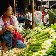 Woman at Inle rural market