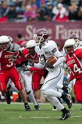 04 November 2006: Eric Davis is pursued by Niall Campbell (44) and Alex Filin (3). In a decisive victory, the Illinois State Redbirds defeat the Missouri State Bears 38-14 at Hancock Stadium on the campus of Illinois State University in Normal Illinois.<br />