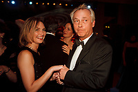 12 NOV 1999, BERLIN/GERMANY:<br /> Uwe-Karsten Heye, Regierungssprecher, und Sabine Haack, tanzen auf dem Bundespresseball 1999, Hotel Intercontinental<br /> Uwe-Karsten Heye, Speeker of the Government, and Sabine Haack, are dancing at the Bundespresseball 1999<br /> IMAGE: 19991112-01/05-08<br /> KEYWORDS: ball, dance, Tanz, Frau, Freizeit, Gesellschaft, society