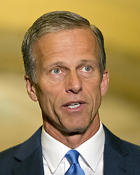 June 27, 2017 - Washington, District of Columbia, United States of America - United States Senator John Thune (Republican of South Dakota) speaks to reporters following the Republican Party luncheon in the United States Capitol in Washington, DC on Tuesday, June 27, 2017..Credit: Ron Sachs / CNP (Credit Image: © Ron Sachs/CNP via ZUMA Wire)