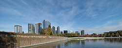 United States, Washington, Bellevue. Downtown Park and skyline.