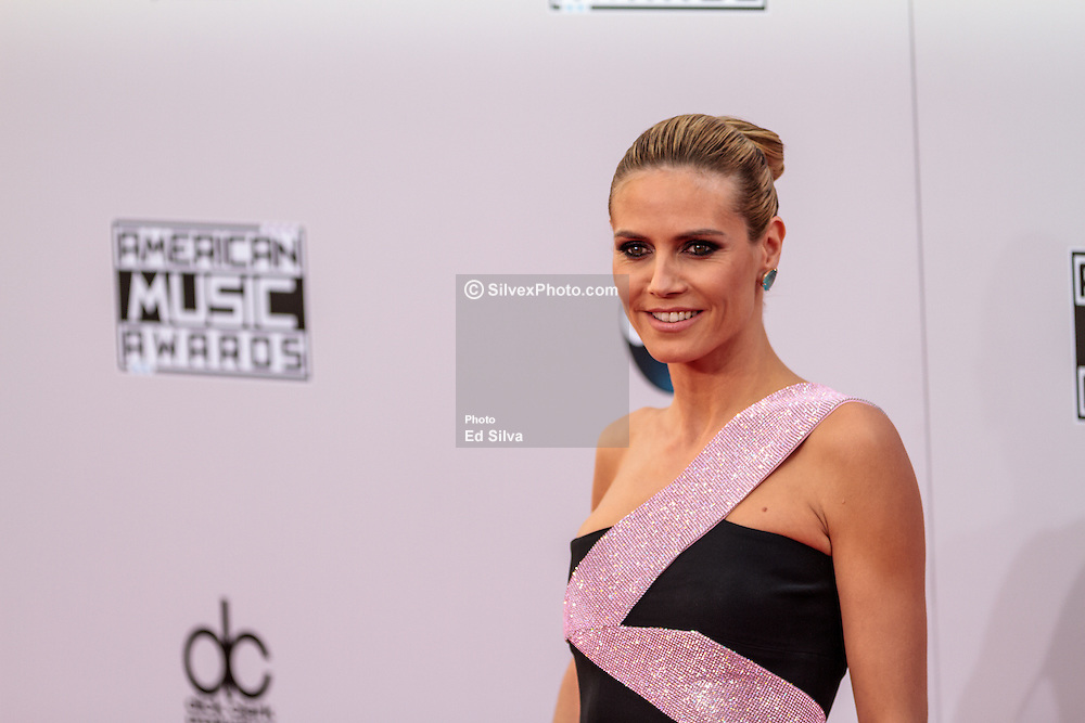LOS ANGELES, CA - NOV 23 Heidi Klum attends the 42nd Annual American Music Awards at the Nokia Theatre L.A. in Los Angeles, California USA. 2014 Nov 23. Byline, credit, TV usage, web usage or linkback must read SILVEXPHOTO.COM. Failure to byline correctly will incur double the agreed fee. Tel: +1 714 504 6870.