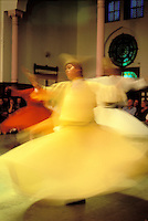 Turquie. Province de Marmara. Istanbul. Derviches tourneurs. // Turkey, Istanbul, whirling dervish