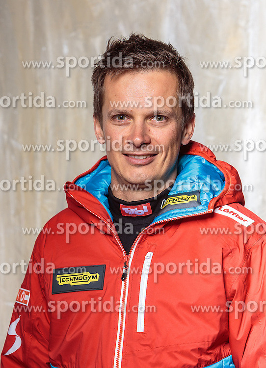 08.10.2016, Olympia Eisstadion, Innsbruck, AUT, OeSV Einkleidung Winterkollektion, Portraits 2016, im Bild Gerald Sonnberger, Pressesprecher Biathlon // during the Outfitting of the Ski Austria Winter Collection and official Portrait Photoshooting at the Olympia Eisstadion in Innsbruck, Austria on 2016/10/08. EXPA Pictures © 2016, PhotoCredit: EXPA/ JFK