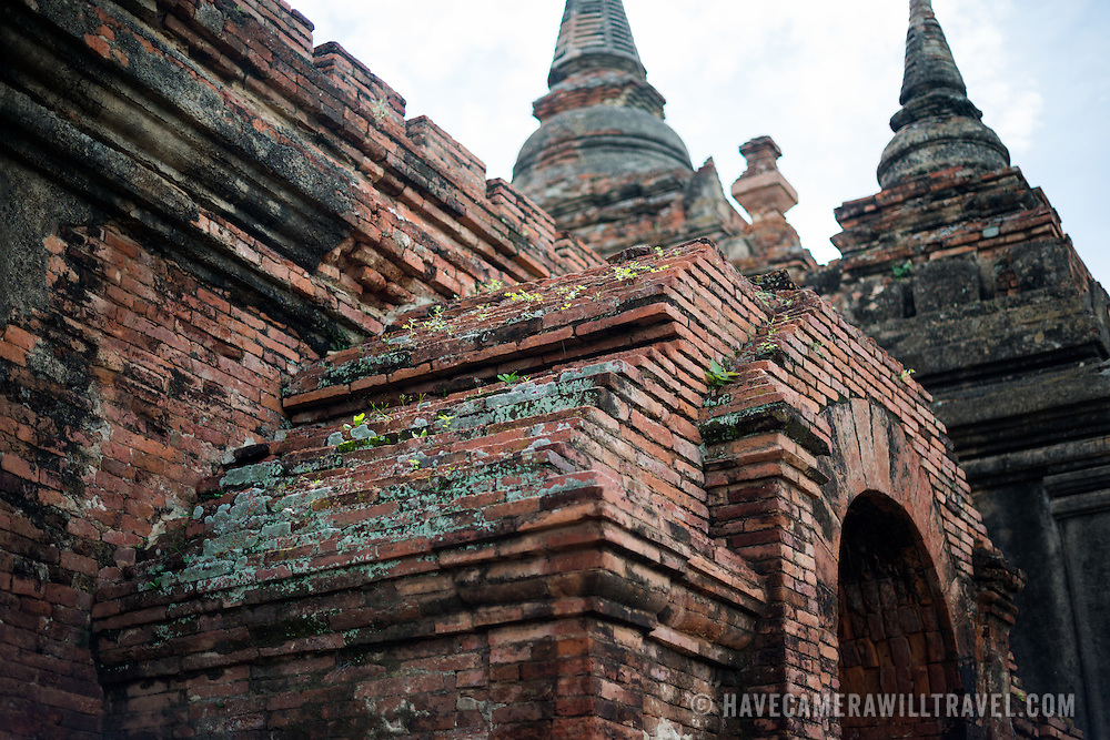 BAGAN, MYANMAR--Located just south of Myinkaba Village in the Bagan Archeological Zone, Apeyadana Temple is named after Apeyadana, an 11th century chief queen consort of King Kyansittha of the Pagan Dynasty of Burma (Myanmar) and maternal grandmother of King Sithu I of Pagan. As with most Burmese names, it is transliterated into English in various ways. Other variations include Ape-ya-da-na, Ape-Yadana-Phaya, and Abeyadana.
