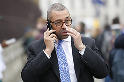 © Licensed to London News Pictures. 13/03/2019. London, UK. Conservative Party Chairman James Cleverly arrives at Parliament ahead of tonight's vote to rule out a no deal on exiting the European Union. Photo credit: Peter Macdiarmid/LNP
