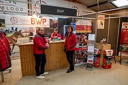 BWP stand, De Pauw Kristof, Quinten Marieke, Mollekens Nadine<br /> BWP Hengstenkeuring -  Lier 2020<br /> © Hippo Foto - Dirk Caremans<br />  17/01/2020