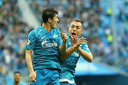 April 28, 2019 - St. Petersburg, Russia - Russian Federation. St. Petersburg. Gazprom Arena. Russian Premier League. Football. 26th round of the Russian Football Championship. RPL - FC Zenit - FC Krylya Sovetov, 4: 2. Zenit football club player Serdar Azmun  (Credit Image: © Russian Look via ZUMA Wire)