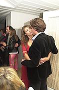 Hugh Grant and Elizabeth Hurley. Talk pre-globe Awards Party. Mondrian, Los Angeles. 22/1/2000. <br />© Copyright Photograph by Dafydd Jones 66 Stockwell Park Rd. London SW9 0DA Tel 0171 733 0108 www.dafjones.com
