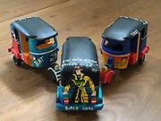 Painted Tuk Tuk's. Three Wheelers.