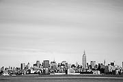 Manhatten Skyline as seen from Liberty Park in New Jersey.